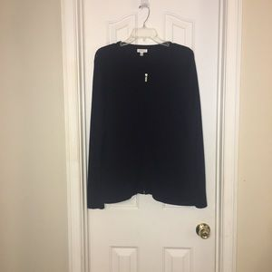Croft & Barrow Navy Zip Sweater Size XL